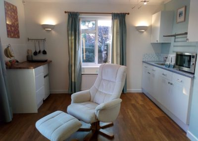 Living Area & Kitchen - Waterton South Suite